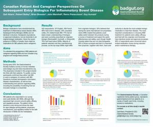 Biosimilars survey results poster image